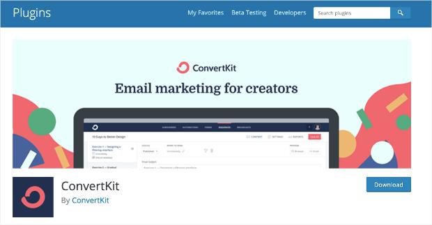 convertkit plugin homepage
