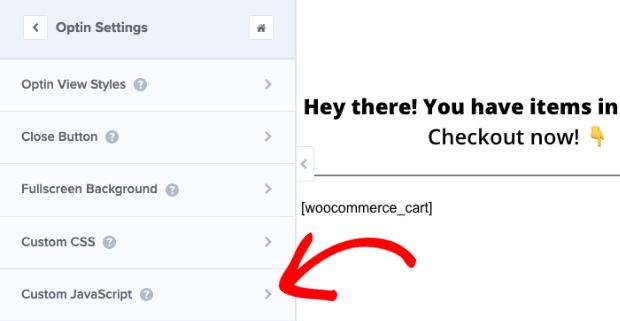 custom javascript tab