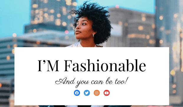 fashion webinar template