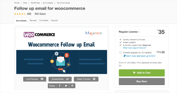 follow up email for woocommerce