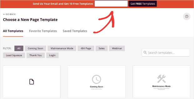 get free templates from seedprod