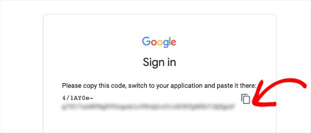 google analytics authentication code