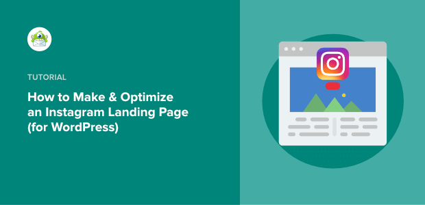 how to make an instagram landing page featured image
