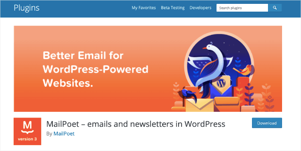 mailpoet plugin homepage
