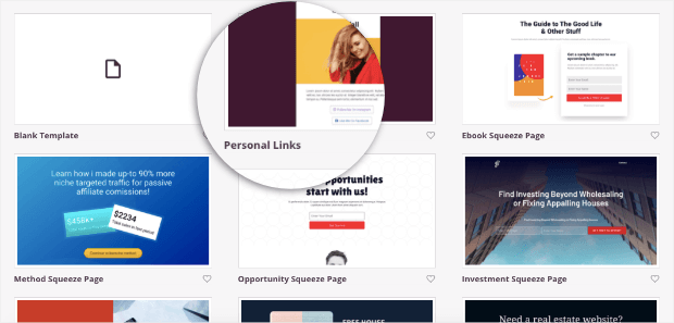personal links template