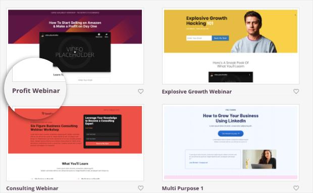 profit webinar template