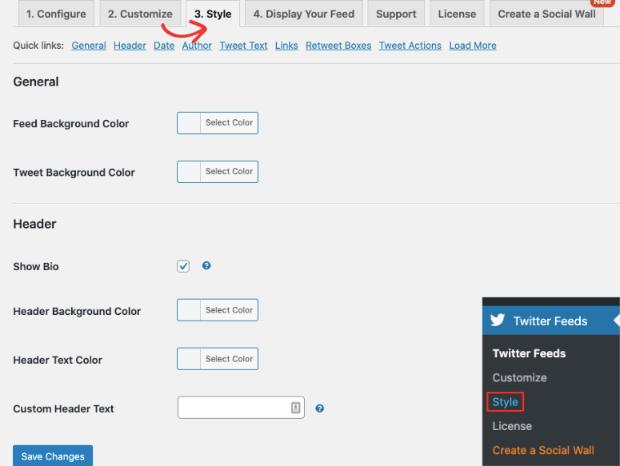 Style custom twitter feed smash balloon