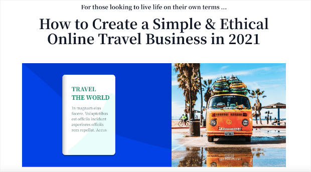 travel webinar template