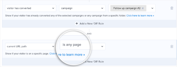 url path page targeting