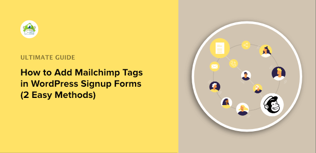 add mailchimp tags in sign up form