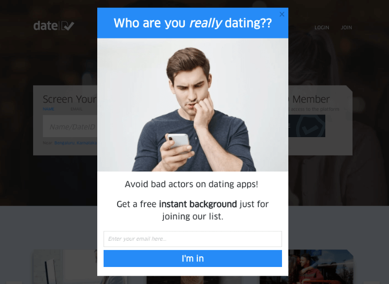 dateid signup campaign