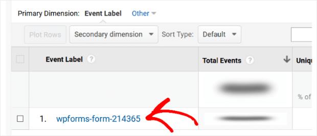 event label in google analytics