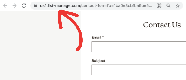 mailchimp url