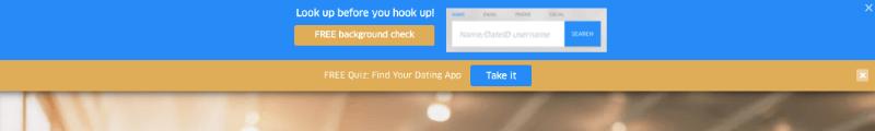 quiz floating bar for dateid