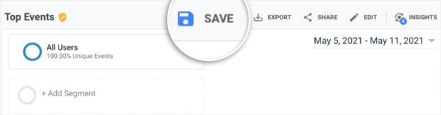 save report in google analytics