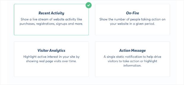 trustpulse campaign types