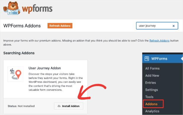 user journey addon