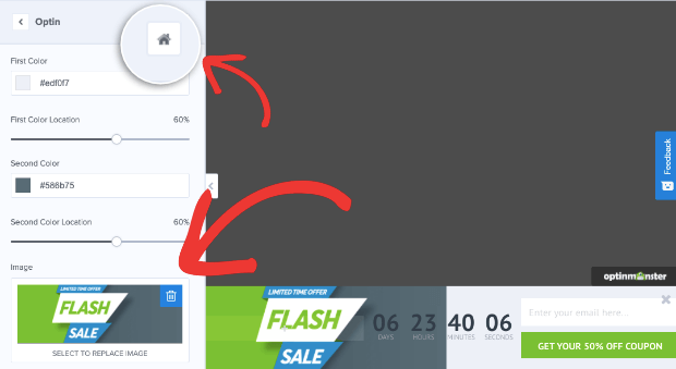 change background in flash floating