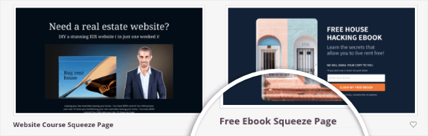 free ebook lead squeeze template in seedprod