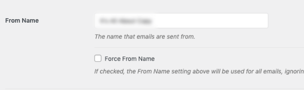 from name with wp mail smtp