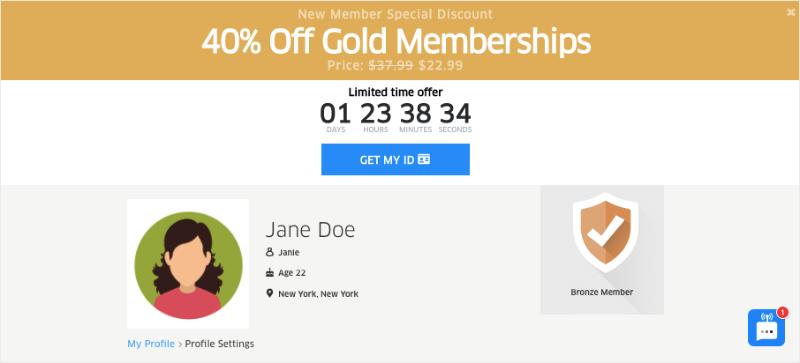 gold membership dateid floating bar