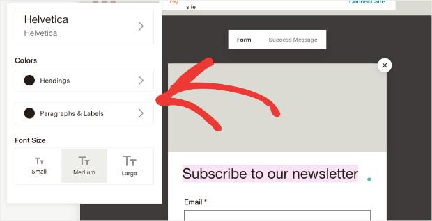 mailchimp style customization