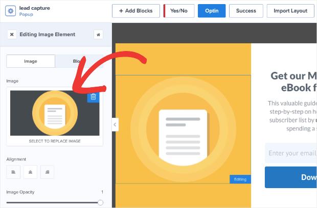 select image in split inline