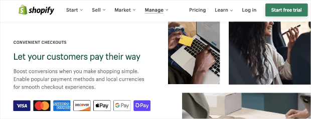 shopify payment integrations