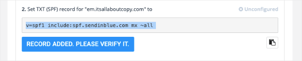 spf record for sendinblue wp mail smtp configuration