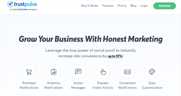 trustpulse new homepage updated