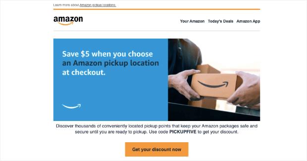 amazon promotional email