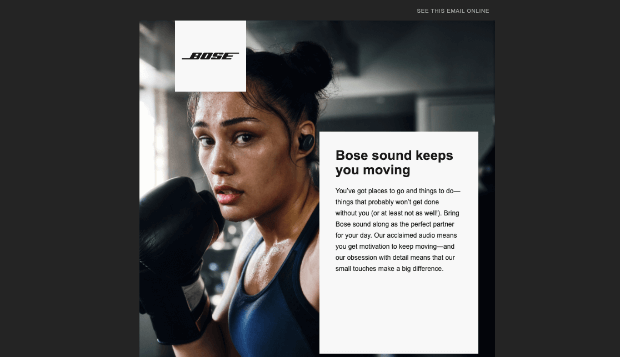 bose promotional email example