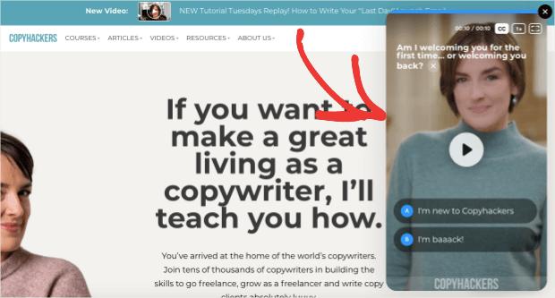 copyhackers content marketing example