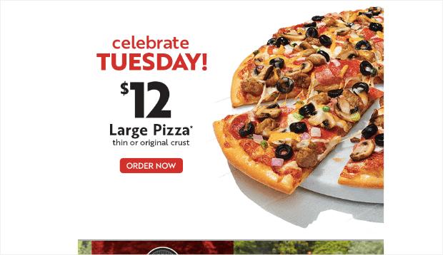 papa murpheys pizza promotional email