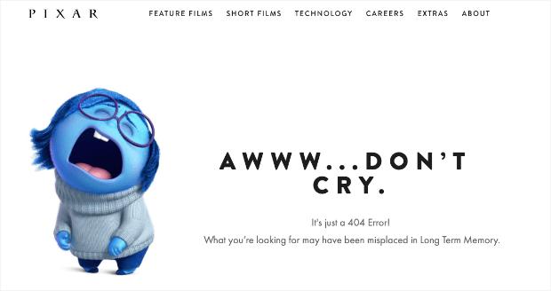 pixar 404 page example