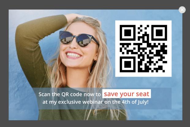 qr code popup example 2