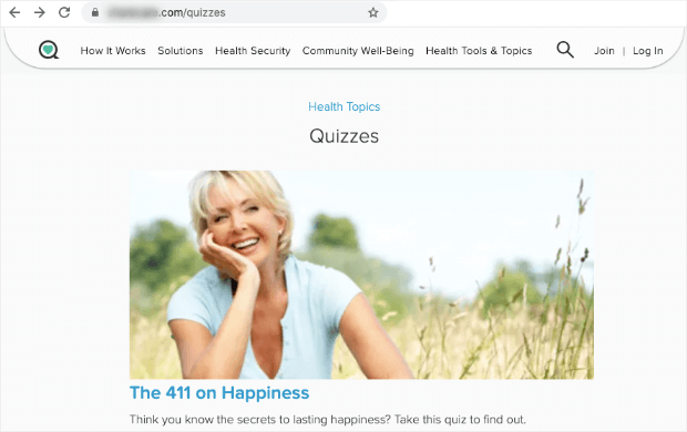 quiz on page