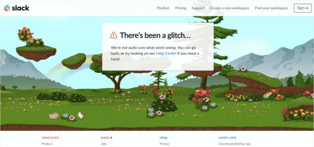slack 404 error page example