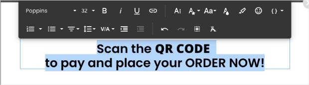 text edit bar