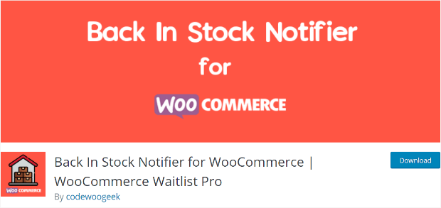 back in stock notifier for woocommerce plugin