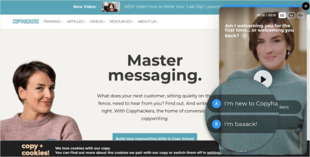 copyhackers ecommerce personalization