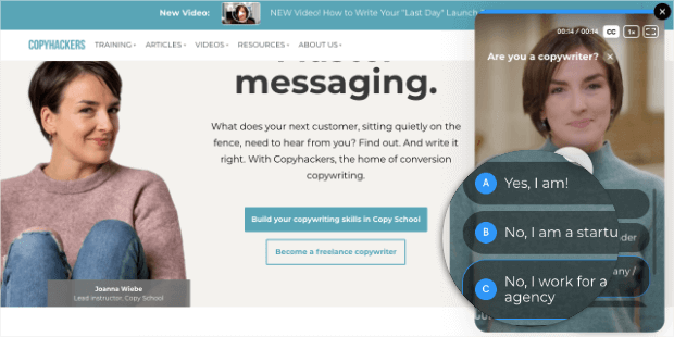 copyhackers ecommerce personalization example number 2