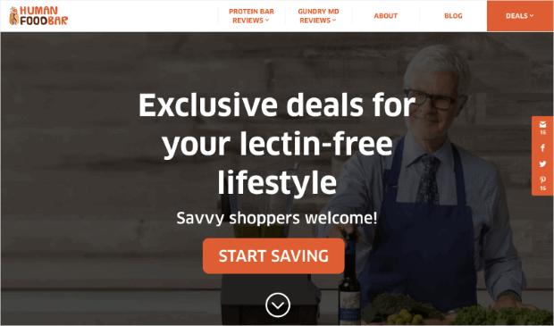 human-food-bar-ecommerce-homepage
