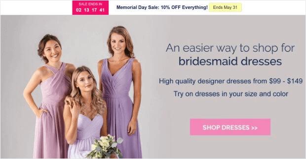 kennedy blue bridesmaid homepage