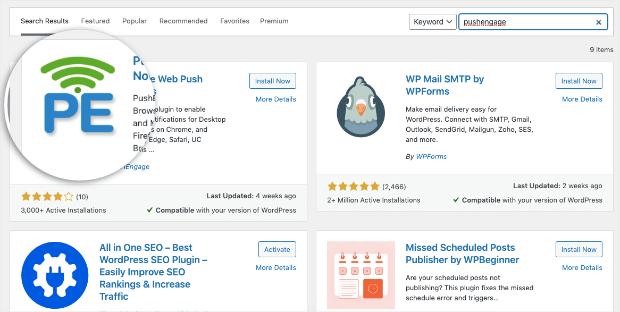 pushengage plugin for wordpress