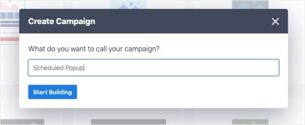 schedule popup in wordpress campaign