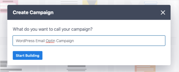 create your wordpress email optin campaign