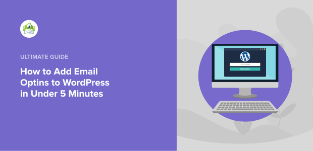 how to add email optins to wordpress featured image
