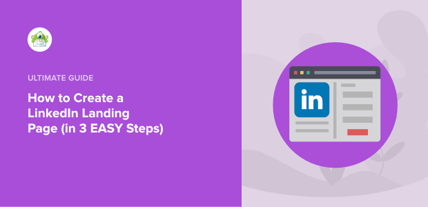 how to create a linkedin landing page featured image