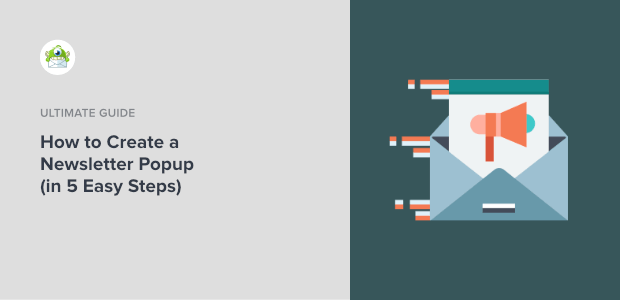 how to create a newsletter popup featured image